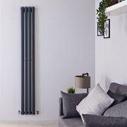 Design Heizkörper Vertikal Einlagig Anthrazit 1780mm x 236mm 595W - Revive Slim