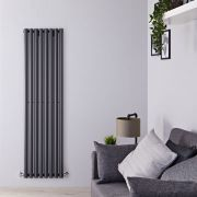 Design Heizkörper Vertikal Einlagig Anthrazit 1780mm x 472mm 1391W - Savy