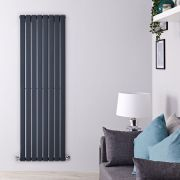 Design Heizkörper Vertikal Einlagig Anthrazit 1780mm x 560mm 1316W - Delta
