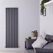 Design Heizkörper Vertikal Einlagig Anthrazit 1780mm x 560mm 1401W - Vital