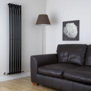 Design Heizkörper Vertikal Einlagig Schwarz 1780mm x 354mm 1043W - Savy