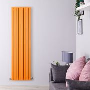 Design Heizkörper Vertikal Orange 1931 Watt 1780mm x 472mm Doppellagig - Sloane
