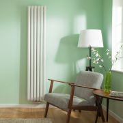 Design Heizkörper Mittelanschluss Weiß Vertikal 1780mm x 354mm 2-lagig - Revive Caldae
