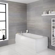 Einbau-Badewanne mit rutschhemmender Oberfläche in Schlüssellochform, 1700mm x 800mm