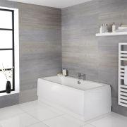 Zweiseitige Badewanne mit Ablauf in der Mitte - Größe wählbar