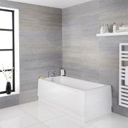 Einbau-Badewanne Rechteckbadewanne 1700mm x 700mm - ohne Panel