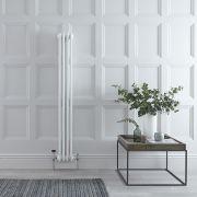Gliederheizkörper Vertikal 3 Säulen Nostalgie Weiß 1500mm x 200mm 694W - Regent