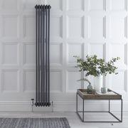 Gliederheizkörper Vertikal 3 Säulen Nostalgie Anthrazit 1800mm x 290mm 1169W - Regent