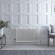 Gliederheizkörper Horizontal 2 Säulen Nostalgie Weiß 600mm x 1010mm 1249W - Regent