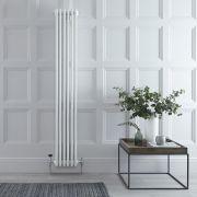 Gliederheizkörper Vertikal 4 Säulen Nostalgie Weiß 1800mm x 270mm 1615W - Regent
