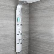 Thermostatisches Duschpaneel aus Aluminium auch zur Eckmontage - Baya