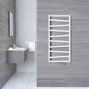 Handtuchheizkörper Vertikal Mittelanschluss Weiß 1070mm x 500mm - Torun
