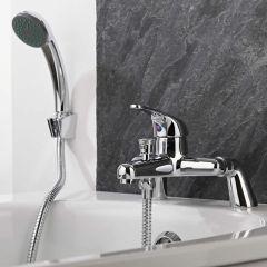 Klassische Badewannenarmatur zur Wannenrandmontage mit Handbrause - Encore