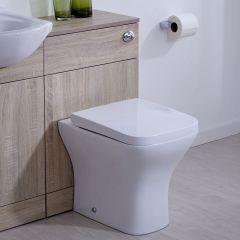 Toilette mit Spülkastenverkleidung - Eiche 500mm x 300mm - Modern