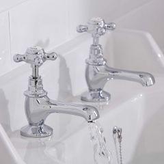 2-Loch Waschtischarmatur mit Kreuzgriffen - Topaz