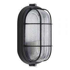 Biard Kellerlampe mit Schutzgitter Außenleuchte Oval E27