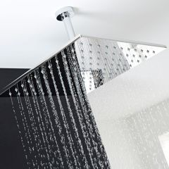 Duschkopf 400mm x 400mm aus Edelstahl ohne Duscharm