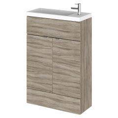 600mm x 235mm Waschbecken mit Unterschrank - Treibholz