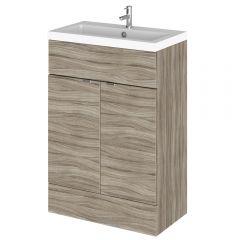 600mm x 335mm Waschbecken mit Unterschrank - Treibholz