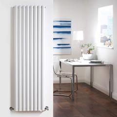 Design Heizkörper Vertikal Doppellagig Weiß 1600mm x 472mm 1638W - Revive