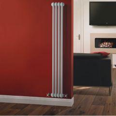 Gliederheizkörper Vertikal 2 Säulen Nostalgie Weiß 1500mm x 203mm 548W - Regent