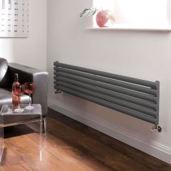 Design Heizkörper Horizontal Einlagig Anthrazit 354mm x 1600mm 815W - Revive