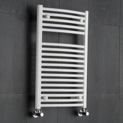 Handtuchheizkörper Gebogen Weiß 800mm x 500mm 466W - Etna