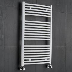 Handtuchheizkörper Gebogen Weiß 1000mm x 600mm 740W - Etna