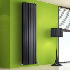 Design Heizkörper Vertikal Doppellagig Schwarz 1780mm x 560mm 2158W - Vital