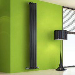 Design Heizkörper Vertikal Einlagig Schwarz 1780mm x 280mm 700W - Vital