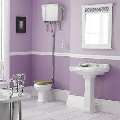 Badausstattung - Klassisches WC-Set & Sockel-Waschbecken 2-Loch