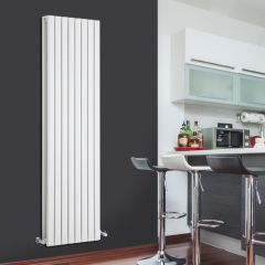 Design Heizkörper Vertikal Doppellagig Weiß 1780mm x 472mm 1931W - Sloane