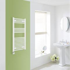 Elektrischer Handtuchheizkörper Weiß 1000mm x 500mm inkl. ein 600W Heizelement - Etna
