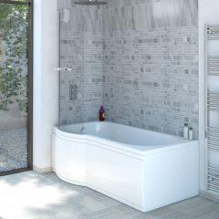 P-förmige Badewanne für die linke Ecke 1675mm - inkl. Paneele
