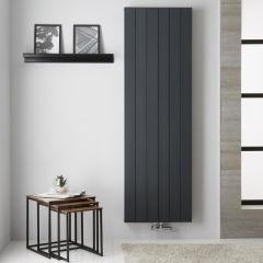 Design Heizkörper Aluminium Doppellagig Vertikal Anthrazit 1800mm x 565mm - Kett