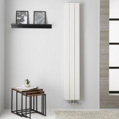 Design Heizkörper Aluminium Doppellagig Vertikal Weiß 1800mm X 280mm   Kett