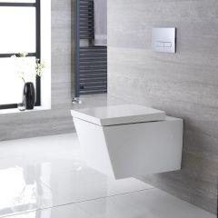 Hänge WC Quadratisch Sitz mit Absenkautomatik - Halwell