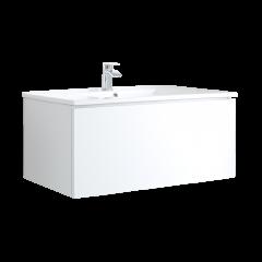 Hudson Reed Newington - 1000mm Moderner Badschrank mit Becken - Mattweiß