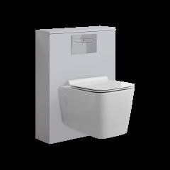 Hudson Reed Newington - 600mm Moderne Toilette mit rechteckiger Wandbefestigung - Mattweiß