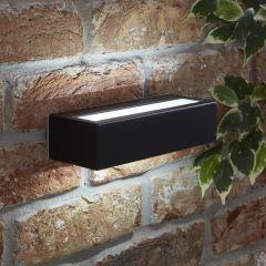 Biard Rechteckige Wandleuchte mit integrierter LED aus Edelstahl - Schwarz