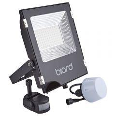 Biard 50W LED Fluter Slimline mit wahlweise Infrarot Bewegungsmelder oder Dämmerungssensor - Schwarz