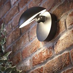 Biard Piombino justierbare LED Wandleuchte in schwarz