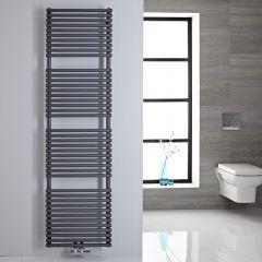 Handtuchheizkörper Mittelanschluss Vertikal Anthrazit 456 Watt 1800mm x 500mm - Magera