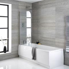 Einbaubadewanne 1700mm x 700mm mit Badewannenaufsatz