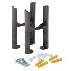 Hudson Reed Windsor - Traditionelle 3-Säulen Heizkörperfüße - Rohmetall