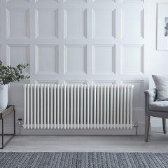 Gliederheizkörper Horizontal 3 Säulen Nostalgie Weiß 600mm x 1470mm 2412W - Regent