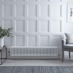 Gliederheizkörper Horizontal 4 Säulen Nostalgie Weiß 300mm x 1485mm 1793W - Regent