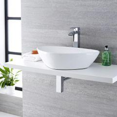 Aufsatz-Waschschale Dreieckig Kenton 59 x 39 cm - aus Keramik