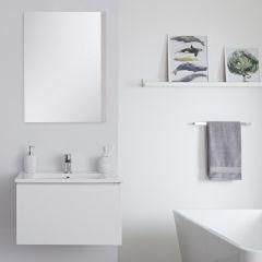 Hudson Reed Newington - Waschbecken mit Unterschrank 600mm Mattweiß