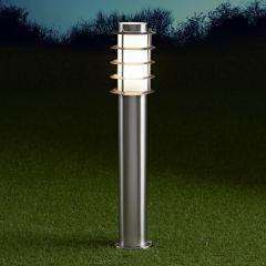 Biard Belfort 600mm Pollerleuchte Edelstahl Chrom inklusive Leuchtmittel